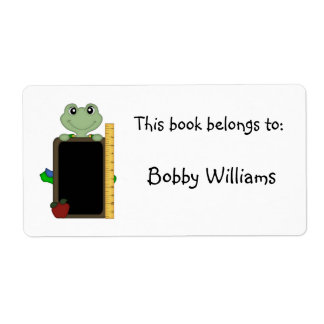 This book belongs to:-Frog/Personalize Name Custom Shipping Label