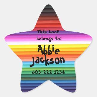 This book belongs to-Fun Stripes Kids Custom Name Stickers