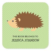 This book belongs to hedgehog bookplate stickers