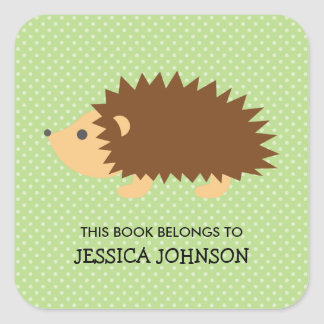 This book belongs to hedgehog bookplate stickers