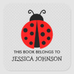 """This book belongs to ladybird bookplate stickers<br><div class=""""desc"""">This book belongs to ladybird bookplate label stickers. Insect ladybug animal name tag stickers. Personalized school supplies for little boys and girls. Cute illustration with personalizable kids name. Childrens vector design in primary colors. Available in square and round shape. Custom back to school supplies for child, parents, teacher etc. Grammar...</div>"""