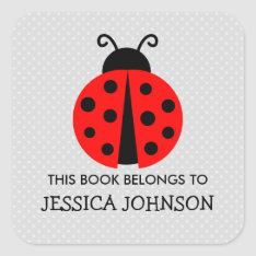 This Book Belongs To Ladybird Bookplate Stickers at Zazzle