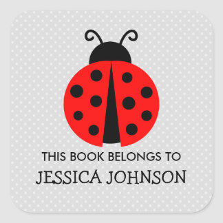 This book belongs to ladybird bookplate stickers