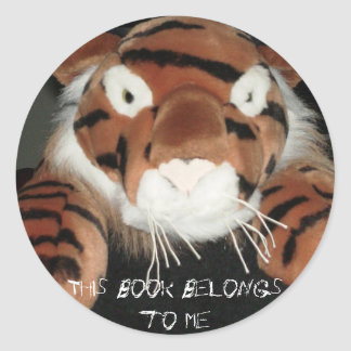 This book belongs to me classic round sticker