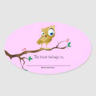 This book belongs to - Owl Bookplates