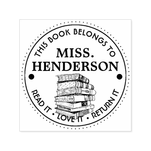 This Book Belongs To Personalized Self_inking Stamp