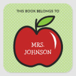 """This book belongs to red apple bookplate stickers<br><div class=""""desc"""">This book belongs to red apple bookplate label stickers Fruit icon with name tag stickers for kids and school teachers. Personalized school supplies for little boys and girls. Cute illustration with personalizable kids name. Vector design in red and green colors. Available in square and round shape. Custom back to school...</div>"""