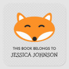 This book belongs to red fox bookplate stickers