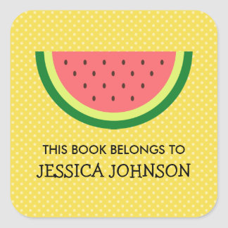 This book belongs to watermelon bookplate stickers