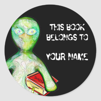 This Book Belongs To You! Classic Round Sticker