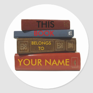 THIS BOOK BELONGS TO YOUR NAME sticker