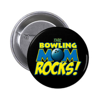 This Bowling Mom Rocks copy.png 2 Inch Round Button