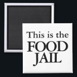 """This box is the food jail magnet<br><div class=""""desc"""">Excuse me,  what is that box in your kitchen? It looks cold,  but what does it do? Ah yes,  it is the food jail. The food has been bad and it must stay in the cold food jail or it will become quite stinky in protest.</div>"""