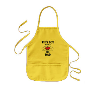 This boy loves his dad kids' apron