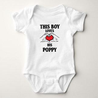 This boy loves his Poppy Baby Bodysuit