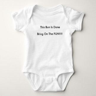 This Bun Is Done Baby Singlet Baby Bodysuit
