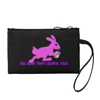 This Bunny Poops Colorful Eggs Coin Purse