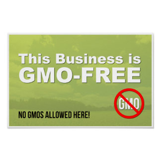 This Business is GMO-Free window sign