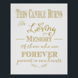 "This Candle Burns In Loving Memory Print<br><div class=""desc"">This Candle Burns In Loving Memory Print</div>"