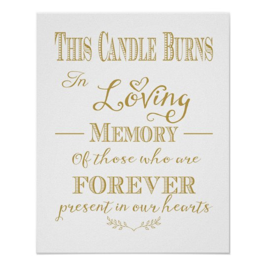 This candle burns in loving memory print zazzle for In loving memory free printable