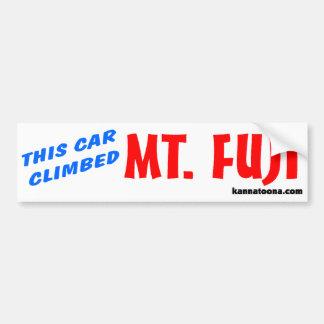 This car climbed Mt. Fuji Bumper Sticker