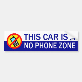 This Car Is A No Phone Zone Bumper Sticker