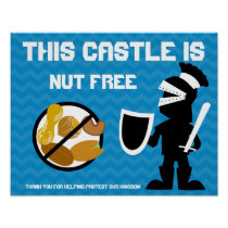 This Castle is Nut Free Guarded by Knight Poster