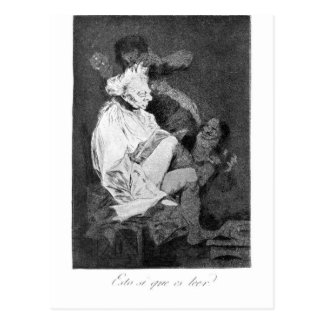 This certainly is reading by Francisco Goya Postcard
