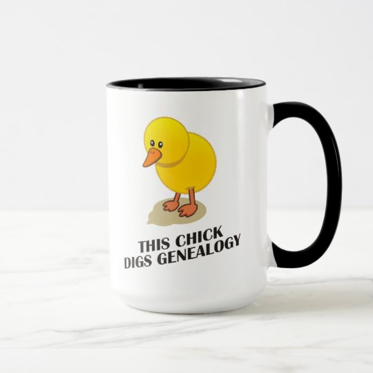 This Chick Digs Genealogy Mug