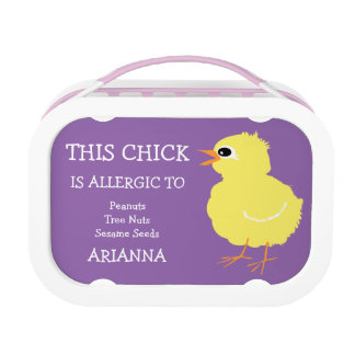 This Chick is Allergic Personalized Kids Cute Lunch Box