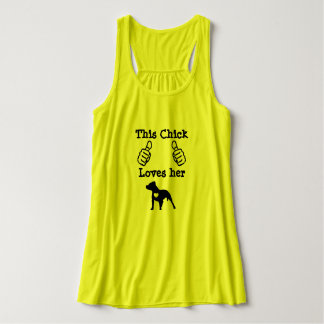 This Chick Loves her Pit Bull Tank Top