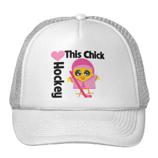This Chick Loves Hockey Mesh Hat