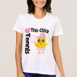 This Chick Loves Tennis T Shirt