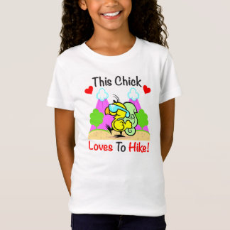 """This Chick Loves To Hike"" Girls Shirt"