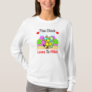 """This Chick Loves To Hike"" Ladies Shirt"