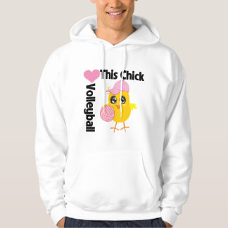 This Chick Loves Volleyball Hooded Pullover