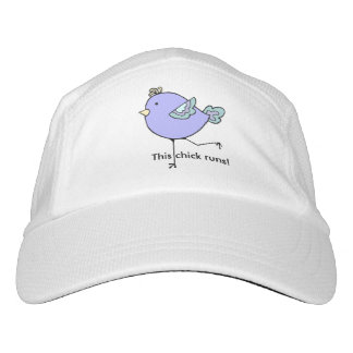 This Chick Runs Women Runners Fun cartoon bird Headsweats Hat