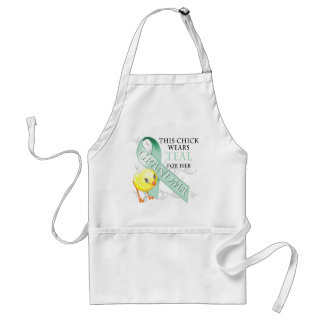 This Chick Wears Teal for her Grandma Adult Apron