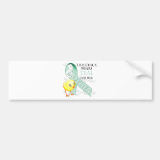 This Chick Wears Teal for her Mother Car Bumper Sticker