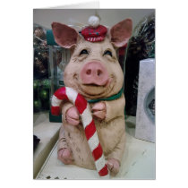 THIS CHRISMAS PIG WISHES U A HAPPY CHRISTMAS CARD