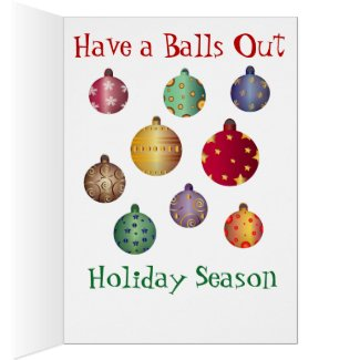 This Christmas Card Takes Balls