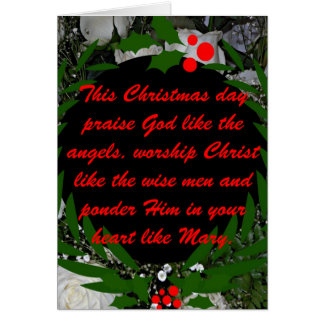 This Christmas day praise God like the angels Card