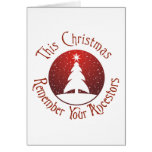 This Christmas Remember Your Ancestors Cards