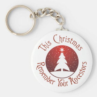 This Christmas Remember Your Ancestors Keychain