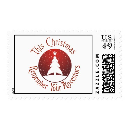 This Christmas Remember Your Ancestors Postage