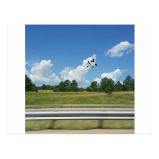 This cloud means business postcard
