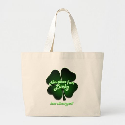 This clover feels lucky, how about you? canvas bag