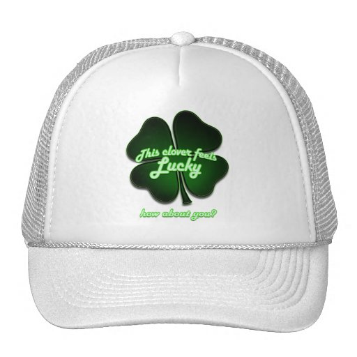 This clover feels lucky, how about you? mesh hat