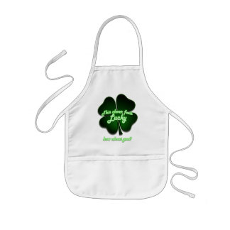This clover feels lucky, how about you? kids' apron
