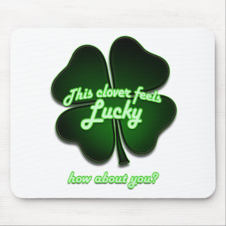 This clover feels lucky, how about you? mouse pad